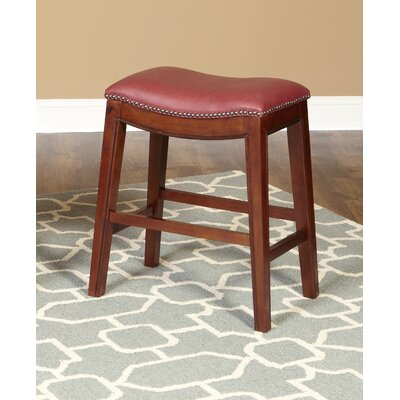 Fiesta 24 inch Bar Stool Upholstery: Red