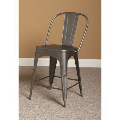Timbuktu 24 Bar Stool Finish: Rubbed Steel