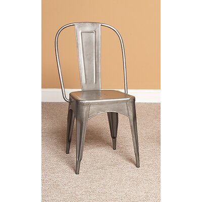 Timbuktu Side Chair (Set of 2) Side Chair Finish: Brushed Steel