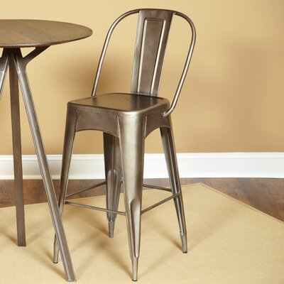 Timbuktu 30 Bar Stool Finish: Rubbed Steel