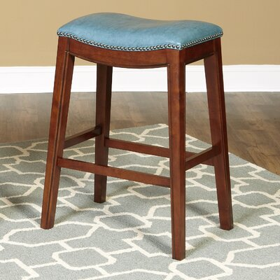 Trinningham 30 Bar Stool Upholstery: Blue