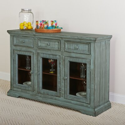 Winslow 3 Door 3 Drawer Sideboard Color: Distressed Blue