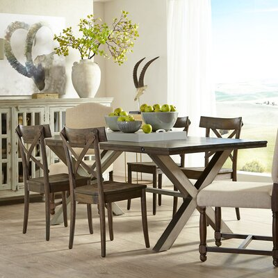 Burnsfield Wood Top Dining Table