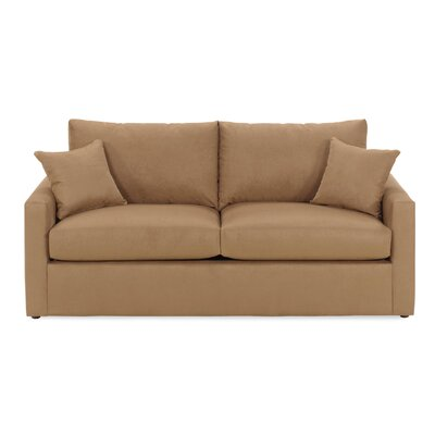 Overnight Sofa Obsessions Sleeper Sofa - Upholstery Color: Graphite, Size: Full, Mattress Type: Memory Foam