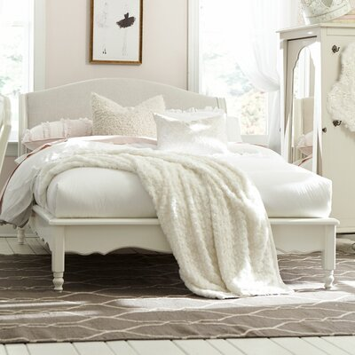 Inspirations by Wendy Bellissimo Avalon Sleigh Bed Color: Seashell White, Size: Full