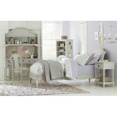 Inspirations by Wendy Bellissimo Avalon Sleigh Bed Size: Twin, Color: Morning Mist Grey
