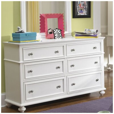 LC Kids Madison 6 Drawer Dresser with Mirror (2 Pieces)