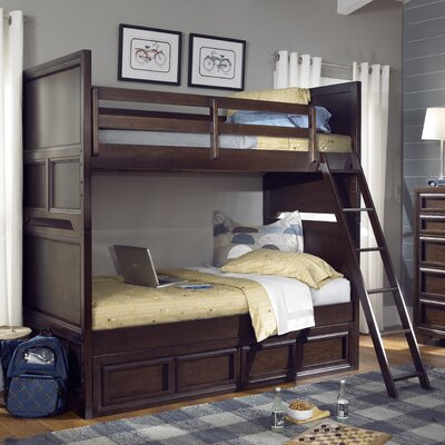 Jamey Twin Over Twin Standard Bunk Bed with Underbed Storage Drawer
