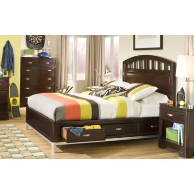 Jami Contemporary Storage Platform Bed Size: Full, Finish: Dark Merlot