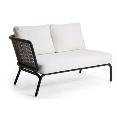 Yland Left Arm Sectional Piece with Cushions Finish: Taupe / Anthracite, Fabric: Lanten Slate