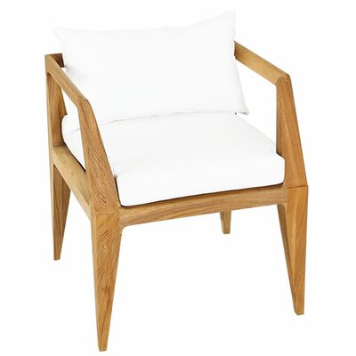 Limited Outdoor Dining Armchair Cushion Fabric: Canvas White