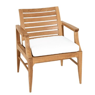 Limited Outdoor Dining Arm Chair Seat Cushion Fabric: Canvas Teak