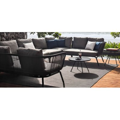 Yland Right Arm Sectional Piece with Cushions Finish: Taupe / Anthracite, Fabric: Lanten Slate