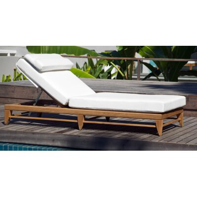 Limited Outdoor Chaise Lounge Chair Cushion Fabric: Canvas Mineral Blue