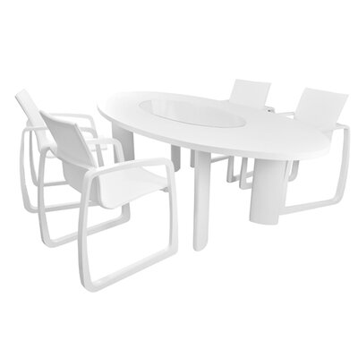 Delancey Dining Table Finish: White