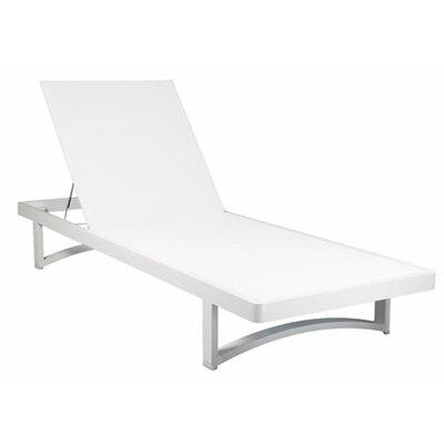 Madison Chaise Lounge Finish: White, Fabric: White