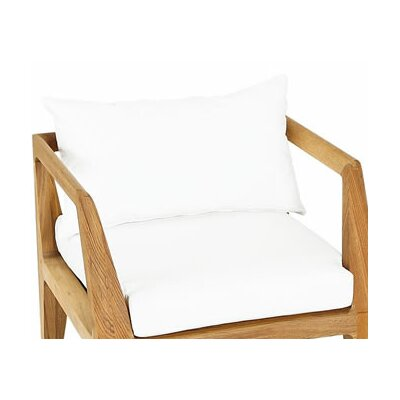 Limited Outdoor Dining Armchair Cushion Fabric: Canvas Glacier