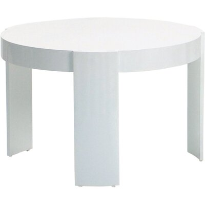 Madison Side Table Finish: White, Table Size: Small