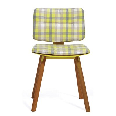 CoCo Outdoor Sunbrella Dining Chair Cushion Fabric: Lemon