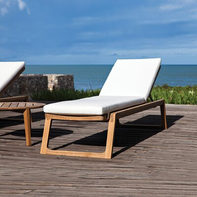 Diuna Outdoor Chaise Lounge Chair Cushion Fabric: Canvas Natural