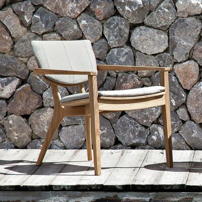 Diuna Outdoor Lounge Arm Chair Back Cushion Fabric: Lanten Slate
