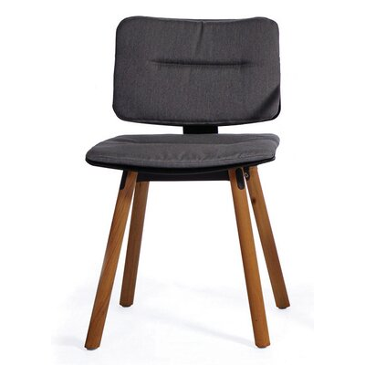 CoCo Outdoor Sunbrella Dining Chair Cushion Fabric: Charcoal