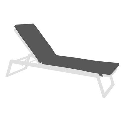 Diuna Outdoor Chaise Lounge Chair Cushion Fabric: Lanten Slate