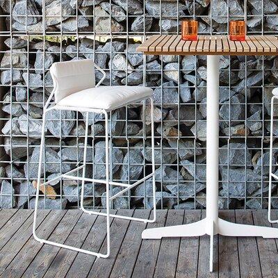 Sandur 28 38 Bar Stool Upholstery Canvas Brick Finish Terra Cotta Rope Anthracite