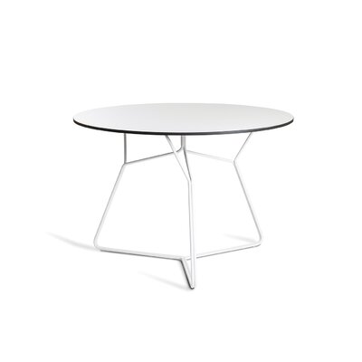 Serac 105 Dining Table Finish: White/White