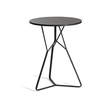 Serac End Table Color: Anthracite/Black