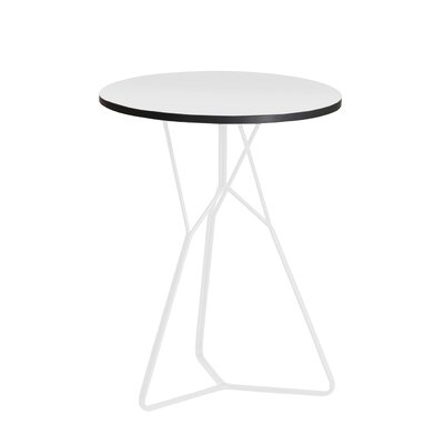 Serac End Table Color: White/White