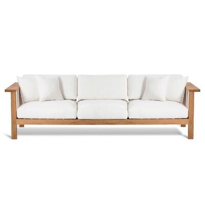 Maro Sofa with Cushions Fabric: Canvas Natural