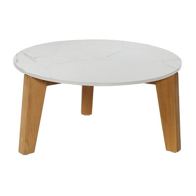 Attol Coffee Table Size: Large, Finish: Ceramic White