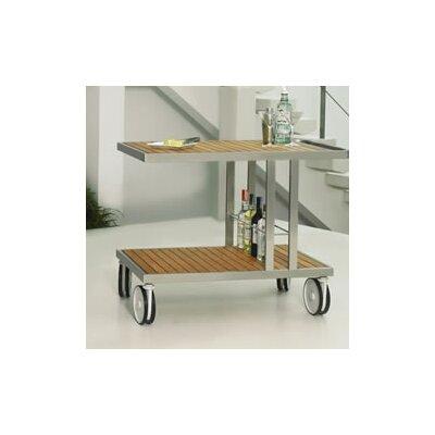 Grace Bar Serving Cart Finish: Stainless Steel