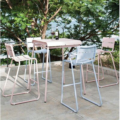 Corail Bar Table Finish: Pastel Blue