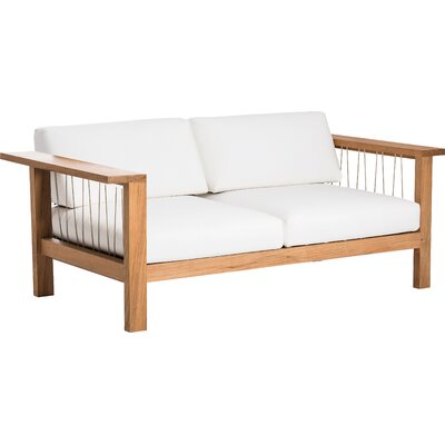 Maro Loveseat with Cushions Fabric: Canvas Natural