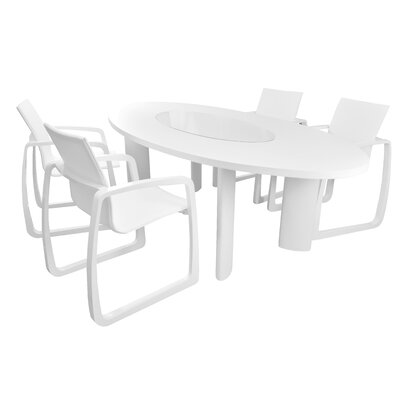 Delancey Dining Table Finish: White