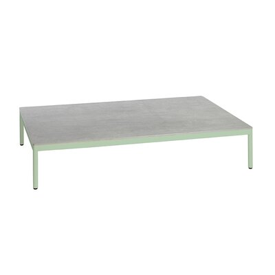 Riad 122 Coffee Table Table Base Color: Pastel Green, Table Top Color: Gray