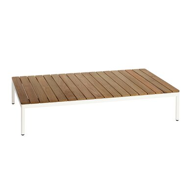Riad 122 Coffee Table Table Base Color: White, Table Top Color: Teak