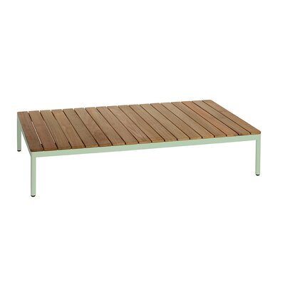 Riad 122 Coffee Table Table Base Color: Pastel Green, Table Top Color: Teak
