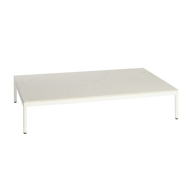 Riad 122 Coffee Table Table Base Color: White, Table Top Color: White