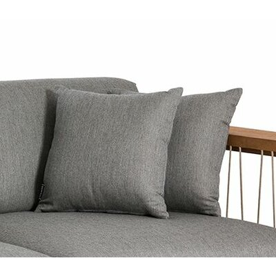 Maro Throw Pillow Color: Charcoal Chine