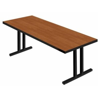 iDesign� 6 Rectangular Conference Table Top Finish: Wild Cherry, Leg Finish: Black, Size: 6 L x 2 W