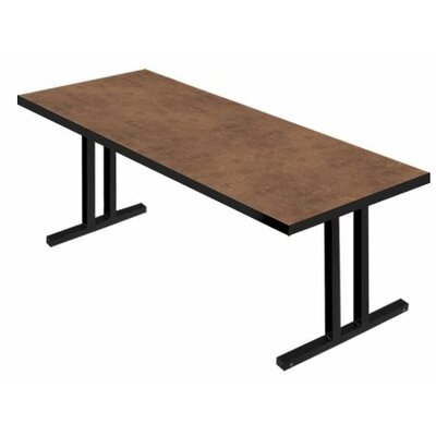 iDesign� 6 Rectangular Conference Table Leg Finish: Black, Top Finish: Flamed Soapstone, Size: 6 L x 2 W