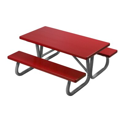 Southern Piknik Lil Picnic Table Finish: Brite Red