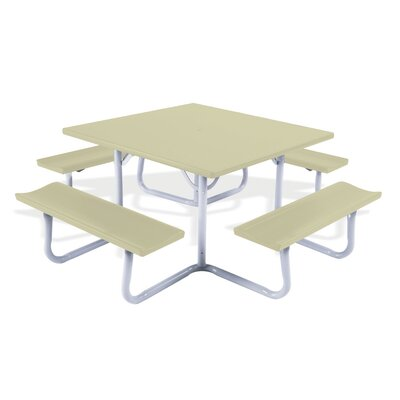 Southern Aluminum Southern Piknik� Picnic Table - Finish: Brite Red at Sears.com