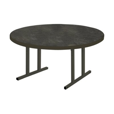 iDesign 5 Circular Conference Table Top Finish: Oiled Soapstone, Leg Finish: Matte Walnut