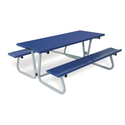 Southern Piknik Deluxe Picnic Table Table Size: 72 L x 64 W x 29.75 H, Finish: Royal Blue