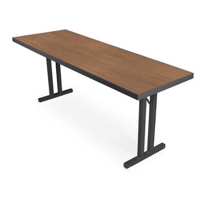 iDesign� 6 Rectangular Conference Table Leg Finish: Black, Top Finish: River Cherry, Size: 6 L x 2 W
