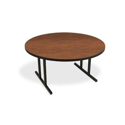 iDesign Circular 29.75H x 60W x 60L Conference Table Leg Finish: Wild Cherry, Leg Finish: Black